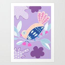 Kids collection - birds in a garden paradise Art Print