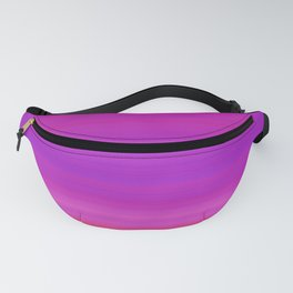 Orange & Purple Stripes | Bright ombre gradient pattern Fanny Pack