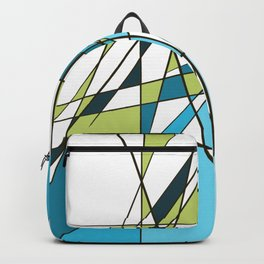 Geometric Teal and Green pattern Backpack
