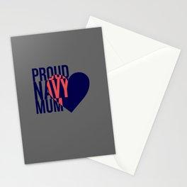 Proud Navy Mum Stationery Cards