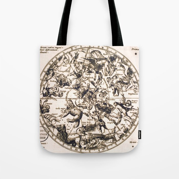 Unknown Celestial Map Of The Northern Hemisphere 17th Century Tote Bag By Ninboy