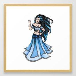 Winter Belly Dancer Goddess Framed Art Print