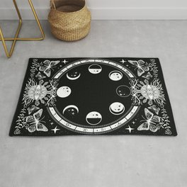 Astrological Moon Phase Magical Witchy  Rug