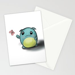 cuteness monster Stationery Cards