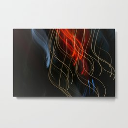 Abstract Drifting Light Trails Metal Print