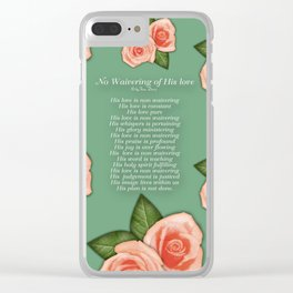 No Waivering of His love By Feon Davis Clear iPhone Case