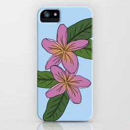 Plumeria III iPhone Case