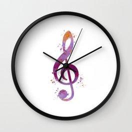Treble clef Wall Clock