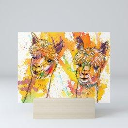 The Alpacas - Acrylic Painting Mini Art Print
