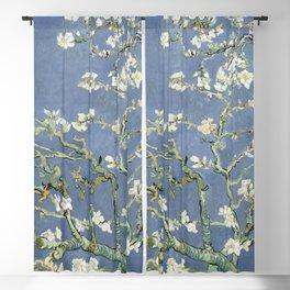 Almond Blossom - Vincent Van Gogh (blue pastel) Blackout Curtain