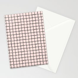 Back to School- Simple Grid Pattern - Black & Pink - Mix & Match with Simplicity of Life Stationery Cards