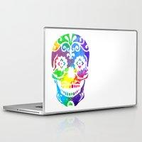 sugar skull Laptop & iPad Skins featuring Sugar Skull by Diana Arend