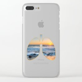 Lungs With Fresh Air In The OutDoors And The Pacific Oceanic design Clear iPhone Case