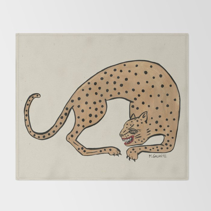 cheetah throw blanket by megangalante society6