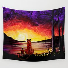 Calvin And Hobbes Art Painting Wall Tapestry