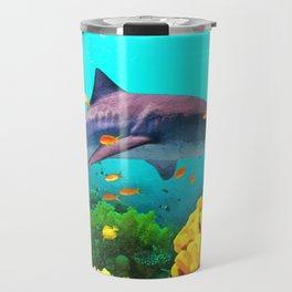 Shark in the water Travel Mug