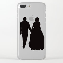 Wedding Couple Silhouette Design For Weddings Clear iPhone Case