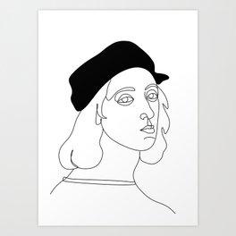 rafael santi artist by one line Art Print