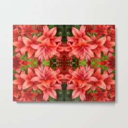 """A Gathering of Lilies"" Remix - 5 (2-1) [D4471~15] Metal Print"