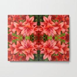 """A Gathering of Lilies"" Remix - 5 (2-1) [D4471~15] Metal Print"