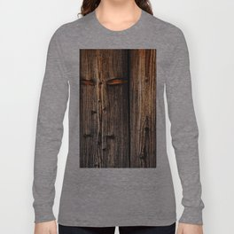 old wood table Long Sleeve T-shirt