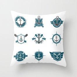 Navy Logo National Navy Day Throw Pillow
