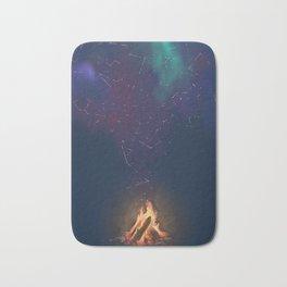 Campfire of Constellations Bath Mat