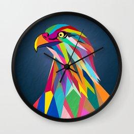 Eagle poly art  Wall Clock