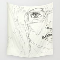 glasses Wall Tapestries featuring Glasses by writingoverashes