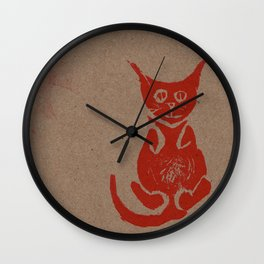 Nine Lazy Lives Wall Clock