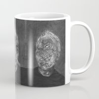 no face Mugs featuring Face by hannoia