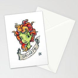Beware Medusa Girl Stationery Cards