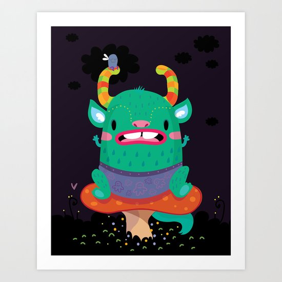 Monster of the night Art Print