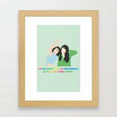 Broad City Abbi Ilana New York Funny Comedy Fan Art Framed Art Print