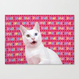 Happy Valentine's Day Kitten Canvas Print