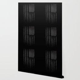 Grey American flag Wallpaper