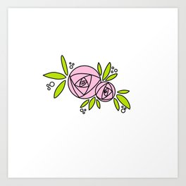 Bright Rose Art Print
