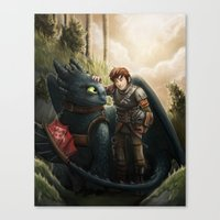how to train your dragon Canvas Prints featuring How to Train Your Dragon by Krikin