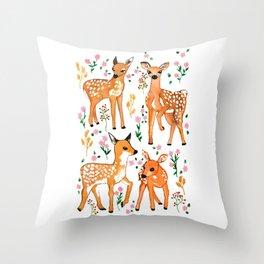 Springtime Deer  Throw Pillow