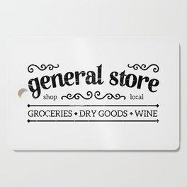 General Store Rustic Sign Cutting Board