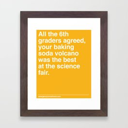 Best at the Science Fair Framed Art Print