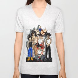saiyan thugs Unisex V-Neck
