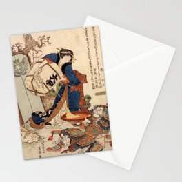 The Strong Oi Pouring Sake by Katsushika Hokusai Stationery Cards