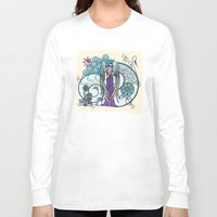 literary Long Sleeve T-shirts featuring Angel of Clouds by DebS Digs Photo Art