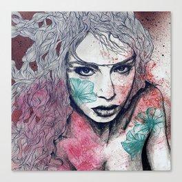 No Hope In Sight: Purple (tattoo girl portrait) Canvas Print