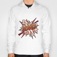 comic book Hoodies featuring Comic Book LOVE! by Thisisnotme