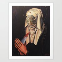 nurse Art Prints featuring Nurse Dolorosa by Hillary White