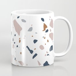 Navy, Mustard, Dusty Pink Terrazzo Pattern Coffee Mug