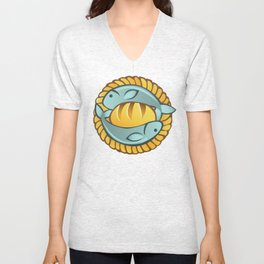 Loaves and Fishes II Unisex V-Neck