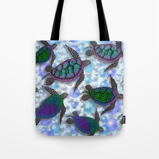 SEA OF TURTLES Tote Bag